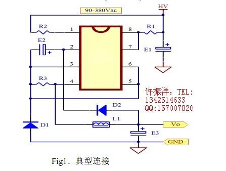 dip8/sop8标准封装极少外围器件 ◇额定输出电流可达400ma(gs